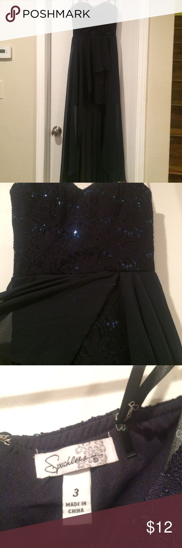 Navy blue dress High-low navy blue going out dress Dresses High Low