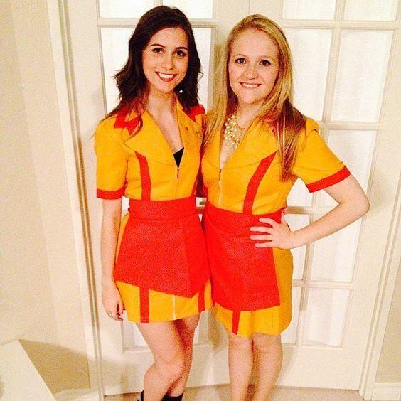 2 Broke Girls Kostüm selber machen | Kostüm Idee zu Karneval, Halloween & Fasching