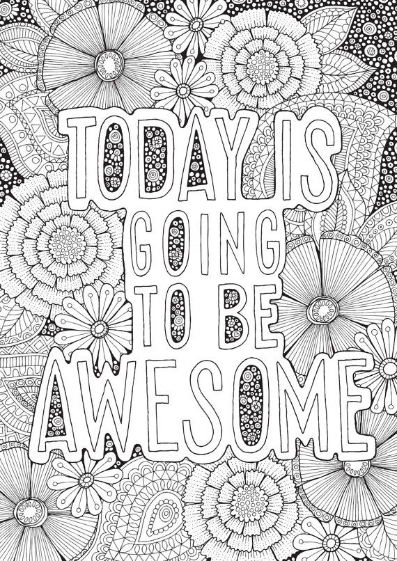 Awesome - Colour with Me HELLO ANGEL - coloring, design, detailed, meditation, coloring for grown ups, doodles, quote, uplifting
