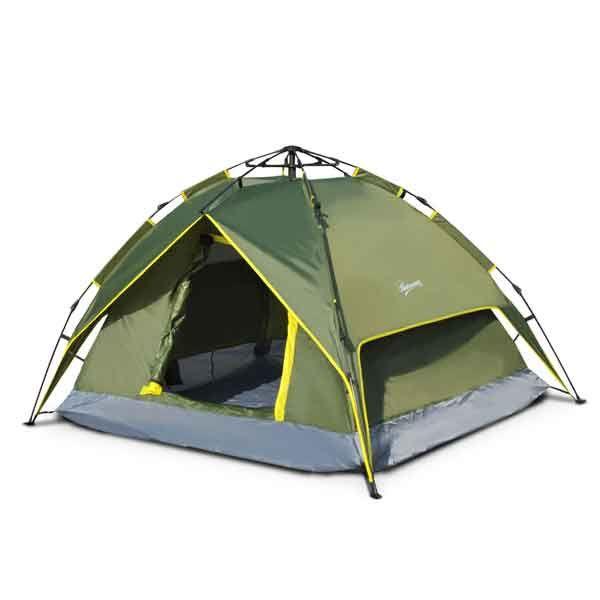 Tente De Camping 2 Personnes Double Toit Camping Tente Camping En Tente Camping