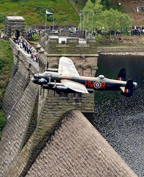 """""""Dam Buster"""" Lancaster Bomber - Probably the most beautiful British WWII bomber."""