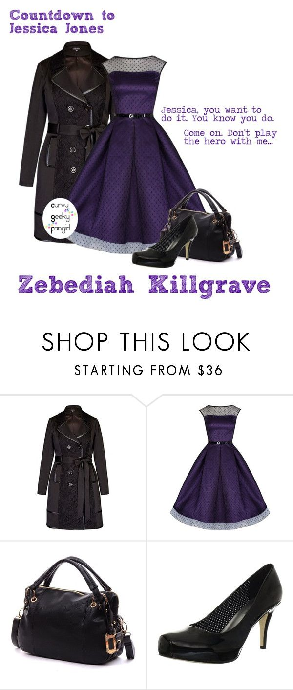 """""""Countdown to Jessica Jones: Zebediah Killgrave"""" by curvygeekyfangirl ❤ liked on Polyvore featuring Madden Girl"""