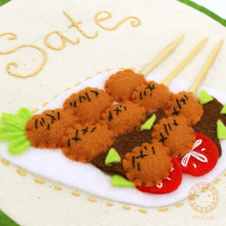 Sate , made by felt