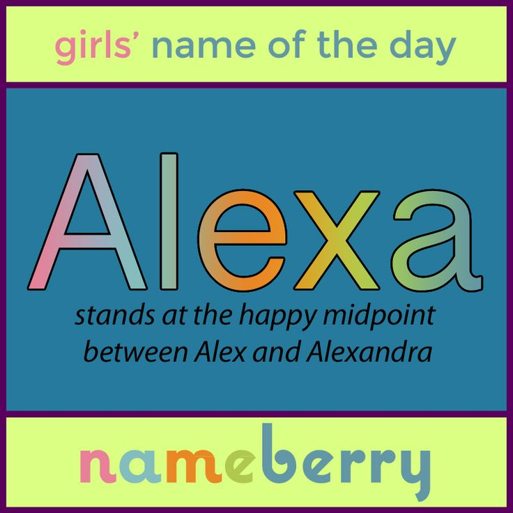 Though hardly a newcomer to the name scene, Alexa is more ...
