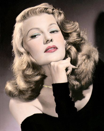 """Rita Hayworth Gilda 1946 Hollywood Movie Star Actress 8x10"""" Hand Color Tinted Photograph by MyVintagePhotos on Etsy https://www.etsy.com/listing/196744743/rita-hayworth-gilda-1946-hollywood-movie"""