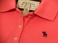 アバクロンビー&フィッチ(Abercrombie & Fitch)のポロシャツ【表記サイズ】&実寸 【 M 】着丈:61cm 肩幅:33cm 身幅:40cm 素材:Cotton98% Spandex2% 販売価格:¥3360