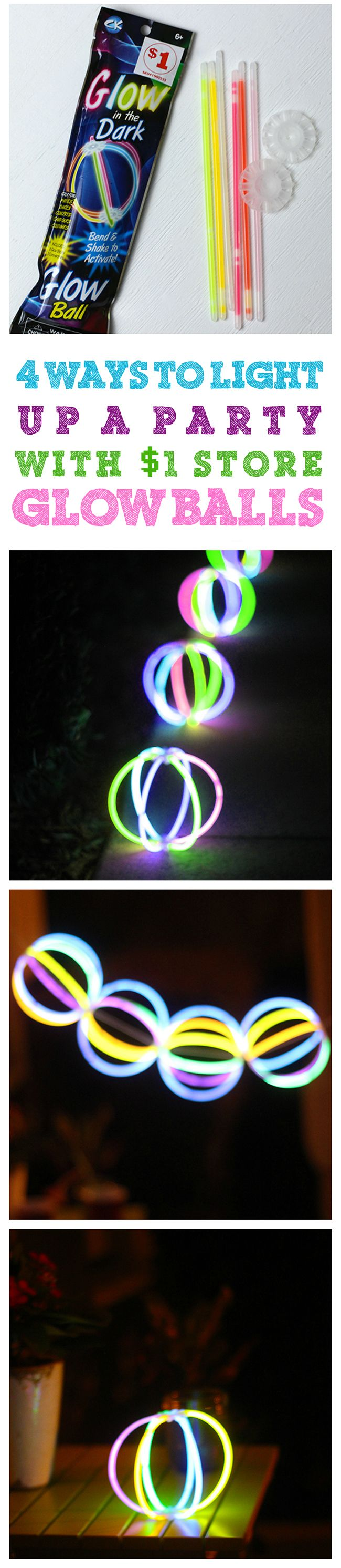 Totally cheap way to decorate for summer parties. Just use those $1 store Glow…