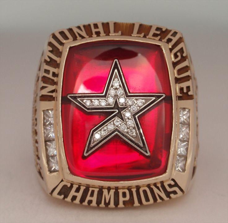 "2005 Houston Astros World Series ""National League"" Champions10K Gold & Diamond Ring"
