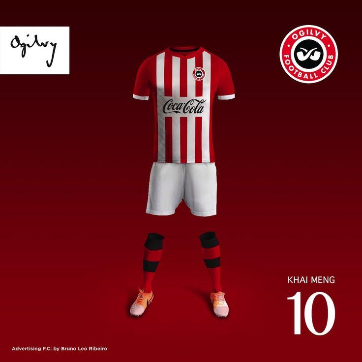 Advertising FC by Bruno Leo Ribeiro championnat de foot opposant les plus grandes agences de com dans des tenues imaginaires aux couleurs de leurs clients historiques via @TrendsNow
