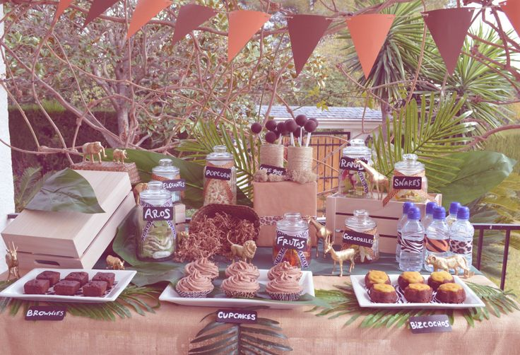25 best ideas about safari candy table on pinterest - Mesa dulce infantil ...