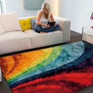 Funky Rugs 8110 65 Brown   Free UK Delivery   The Rug Seller