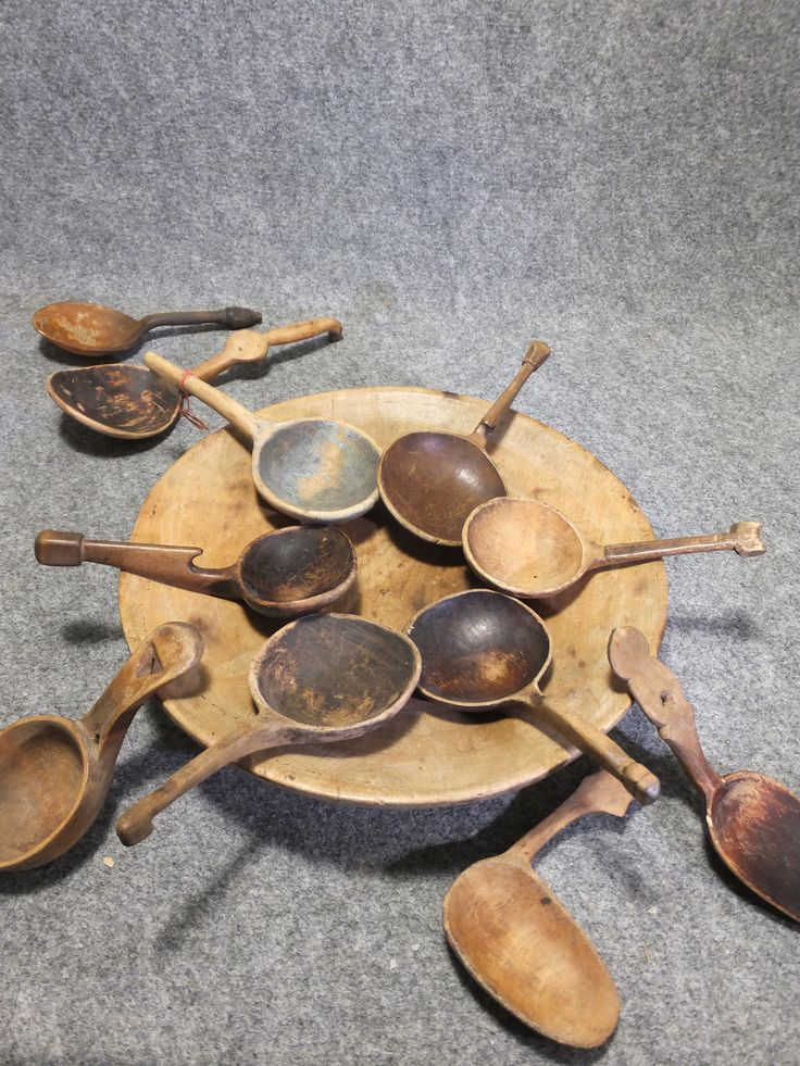 Antique Scandinavian spoons and ladles at www.newsumantiques.co.uk