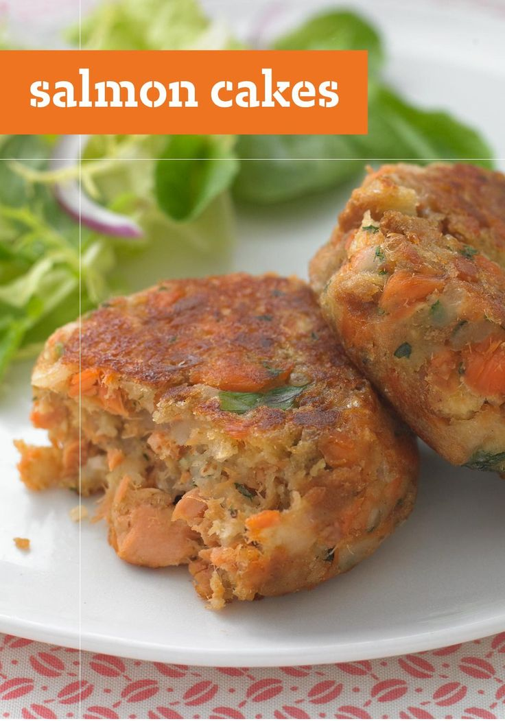 Salmon Cakes – Lemon juice adds a zesty zing to salmon cakes that are golden brown and crispy on the outside and moist on the inside.