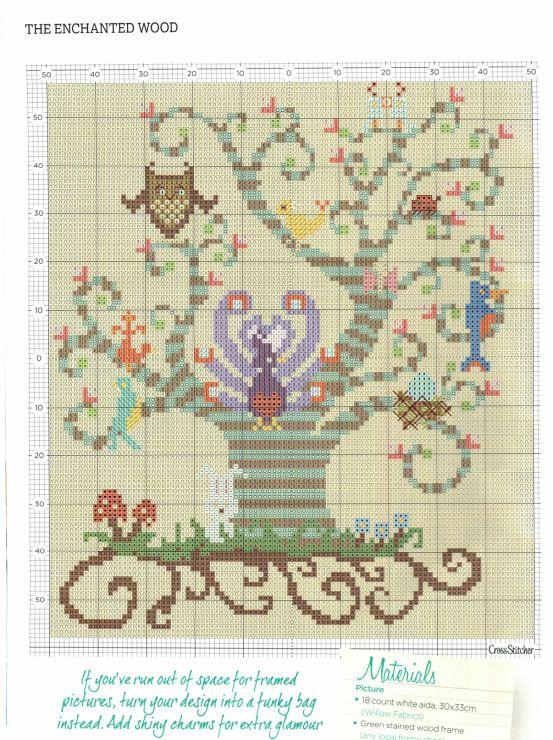 """albero con gufo. per i colori, vedi schema cippino """"notes"""". L 94 H 115."""