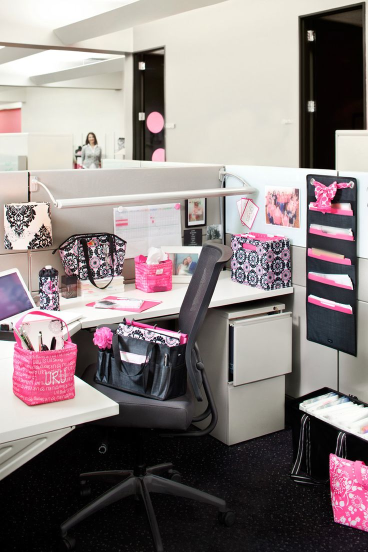 Add some personality to your office or cubicle with thirty for Cubicle desk ideas