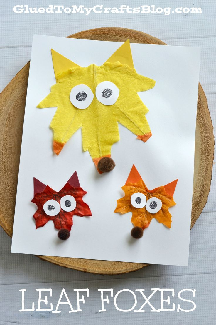 Leaf Foxes - Kid Craft                                                                                                                                                                                 More