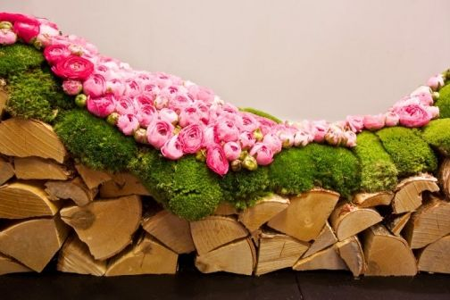 whimsical moss and flowers for an English cottage