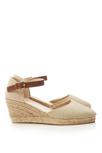 CREAM WEDGE ESPADRILLE