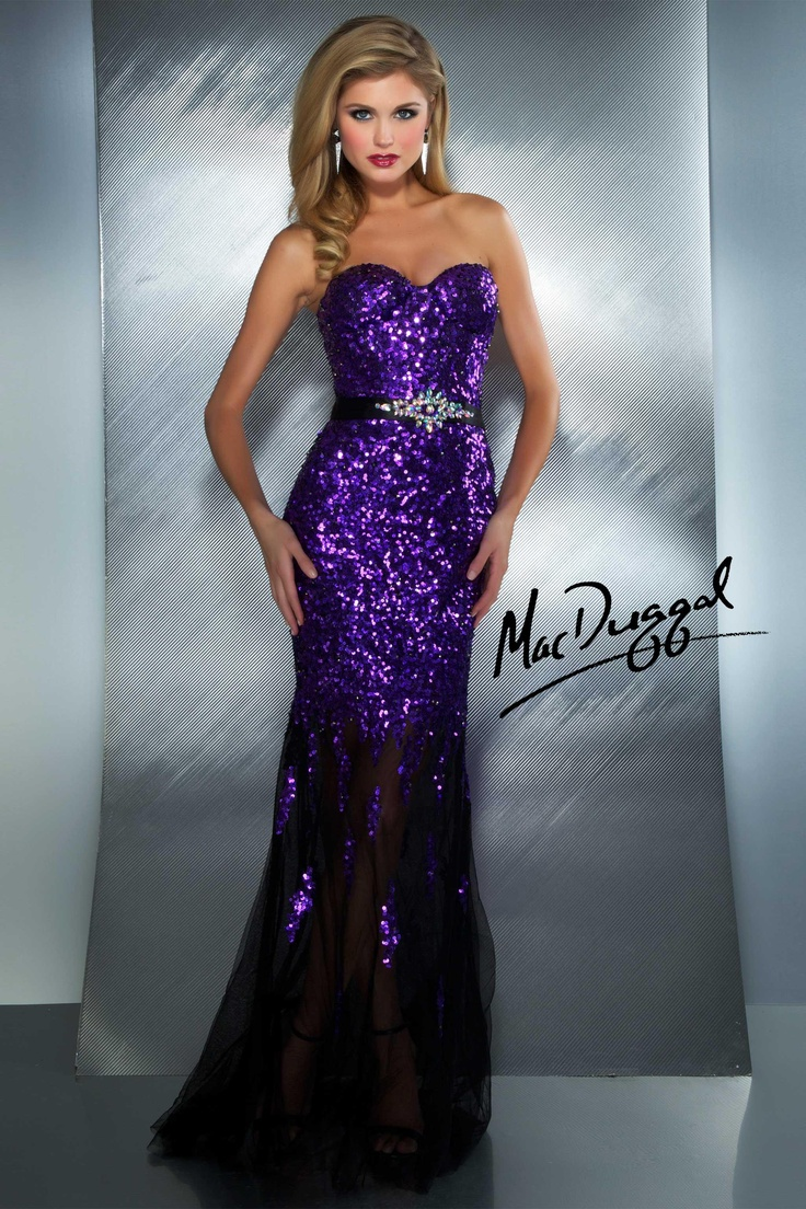 Long Purple Prom Dress