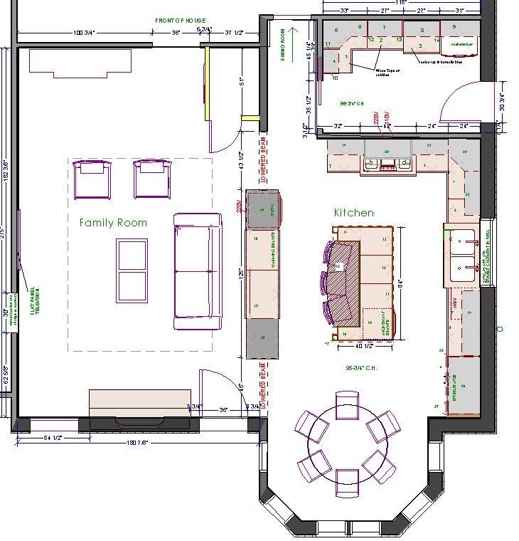 Great kitchen floor plan. | Kitchen plans, Kitchen floor ...