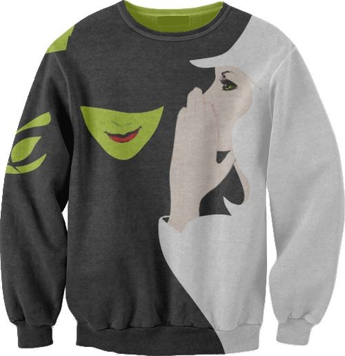 Wicked (the Musical) Sweatshirt. went to see it. loved it. cried like a baby next to this really cute collegiate guy through most of it. fml.