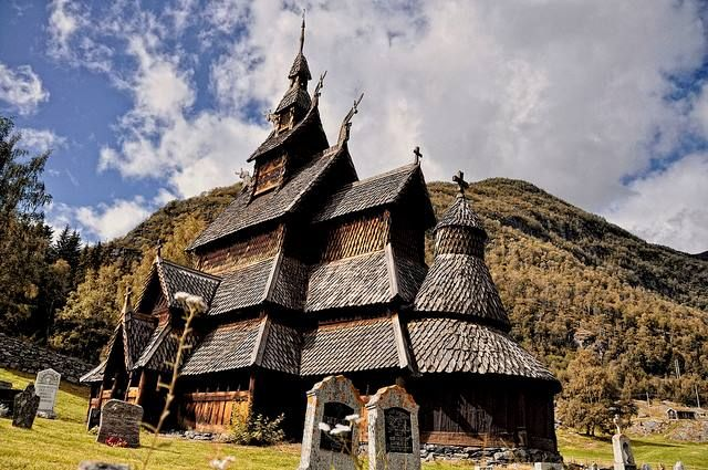 Borgund Stavkirke, a magical monastery in Norway, is truly an architectural masterpiece.  Its unique design and astounding age (reportedly built somewhere in between 1180 and 1250 AD) makes the Stave Church one of the most well-preserved structures in the world and a definite must-see.  Hey, now there's a reason to go to Norway!