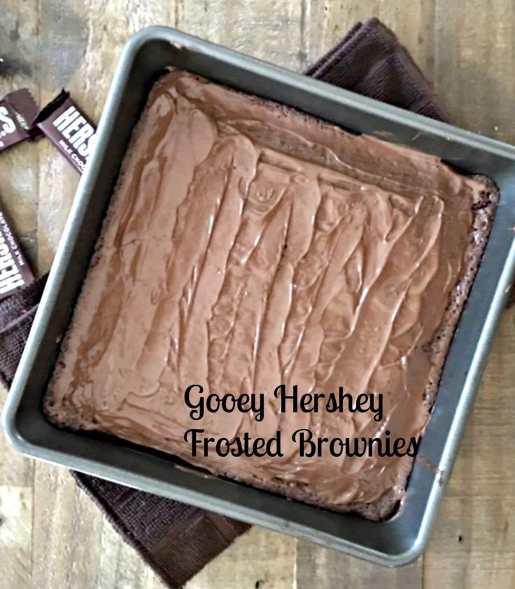 Gooey Hershey Frosted Brownies