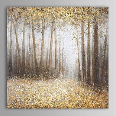 pintura a óleo moderna madeira paisagem abstrata mão canvas, com quadro esticado pintados de 2413809 2016 por R$331,43