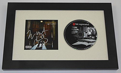 Kanye West Late Registration Hand Signed Autographed Music Cd Compact Disc Framed Display Loa