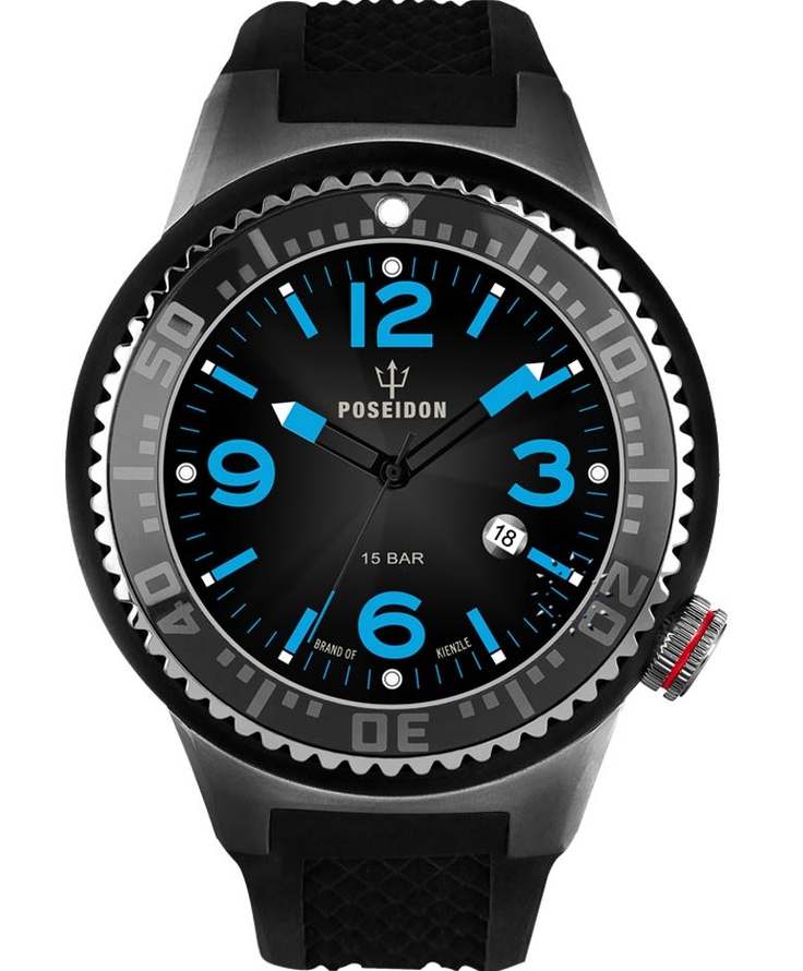 POSEIDON XXL Slim Black Silicone Strap Τιμή: 139€ http://www.oroloi.gr/product_info.php?products_id=34112