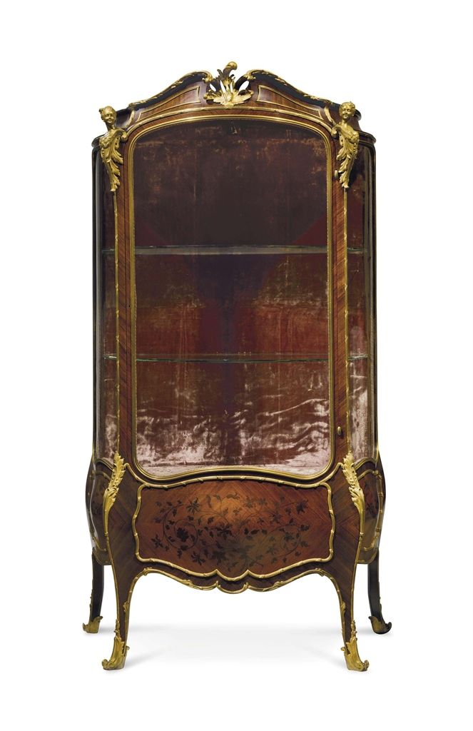 A FRENCH ORMOLU-MOUNTED KINGWOOD AND SATINE MARQUETRY BOMBE VITRINE - LATE  19TH/EARLY - 177 Best FRENCH VITRINE CABINET,S Images On Pinterest Antique