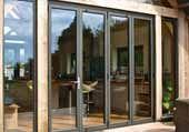 Grey Aluminium bi folding doors installed by Astra Bifolding doors
