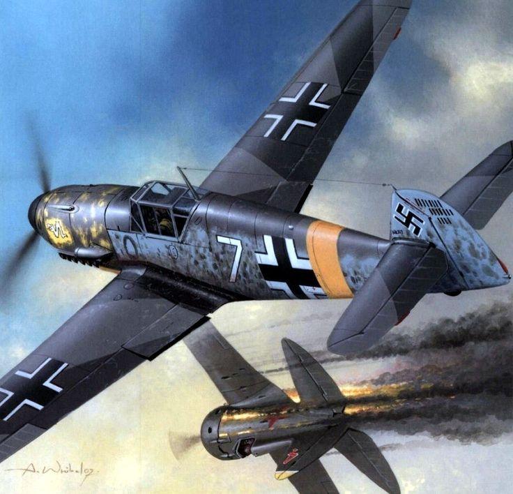 1941 Bf-109F JG3 Udet vs Rata - Arkadiusz Wróbel. Oberleutnant Robert Olejnik Staffelkapitän of 1./JG 3, Shepetowka, Rusia 1941.
