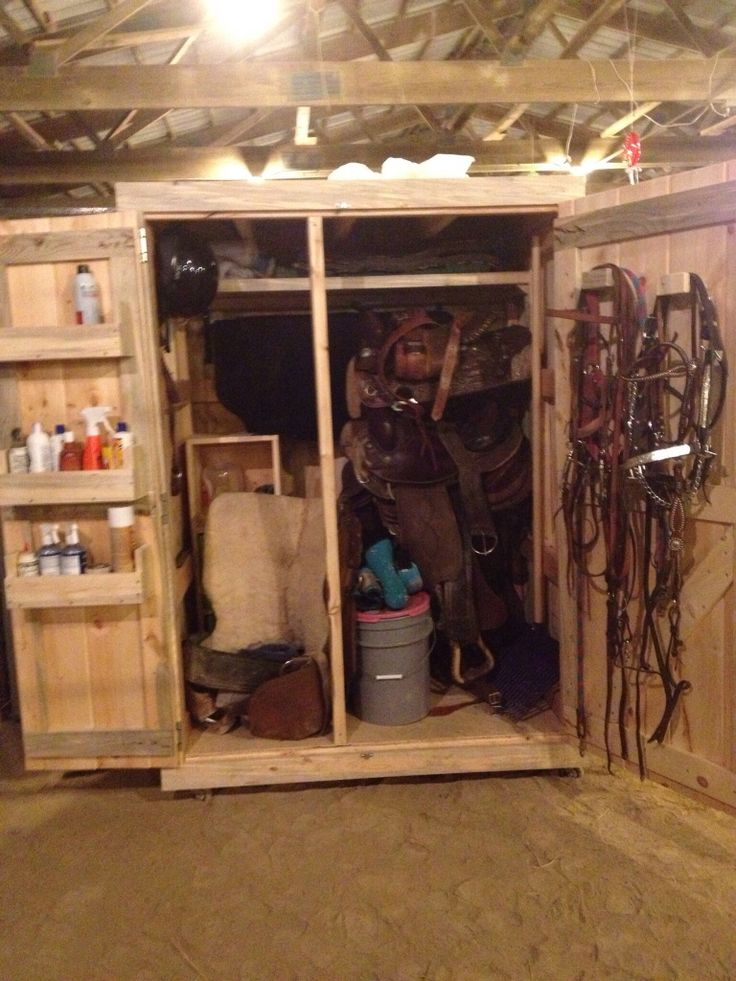 Full Finished Tack Box! 5 saddles, 4 saddle pads, 2 buckets of feed, hose, bridles, helmet, brushes, everyday needs for a horse! Pretty much everything you can image!