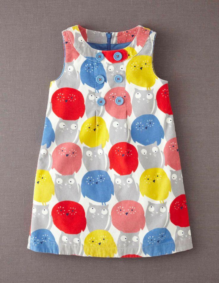 Button Pinafore Dress 33258 Dresses at Boden
