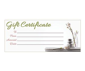 Orchid Zen Gift Certificate: Get this free, printable, customizable template from YourTemplateFinder.com