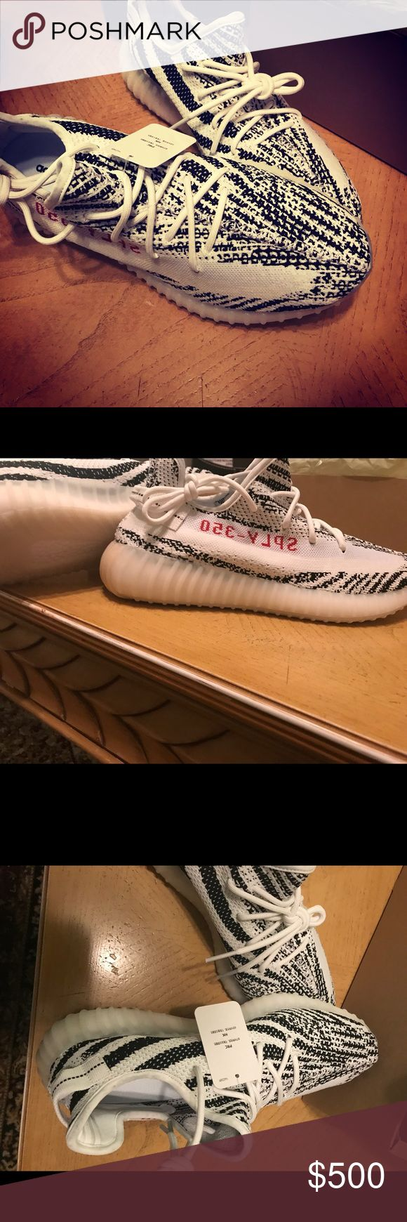 Yeezy boost v2 zebra 100% authentic! I do not sell fake only real ones, I do not accept any offer under 350! Pm for any question or text me @ 209-406-3211. adidas Shoes Athletic Shoes