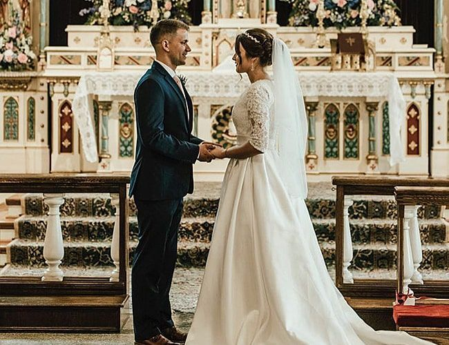 Pin By Hannah Burke On Wedding In 2020 Catholic Wedding Ceremony Catholic Wedding Dresses Wedding Vows