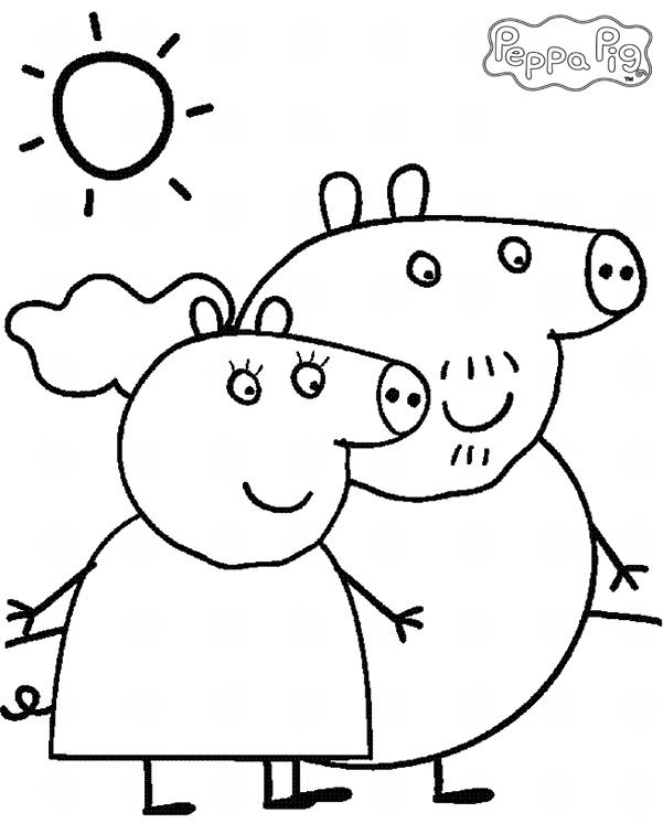 Peppa Pig Coloring Book Games : Coloring pages: peppa pig pages for kids âu2013º