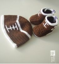 Baby boots and crochet hat