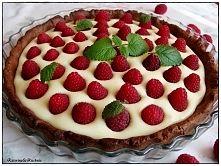 Zobacz zdjęcie Tarta z mascarpone z malinami i białą czekoladą