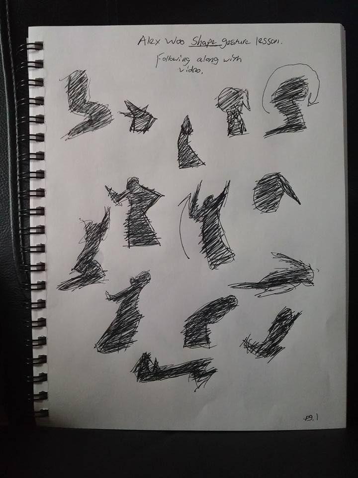 Shape Gesture studies page 1 of 8