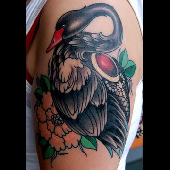 406 best images about swan on pinterest vintage ugly for Black swan tattoo