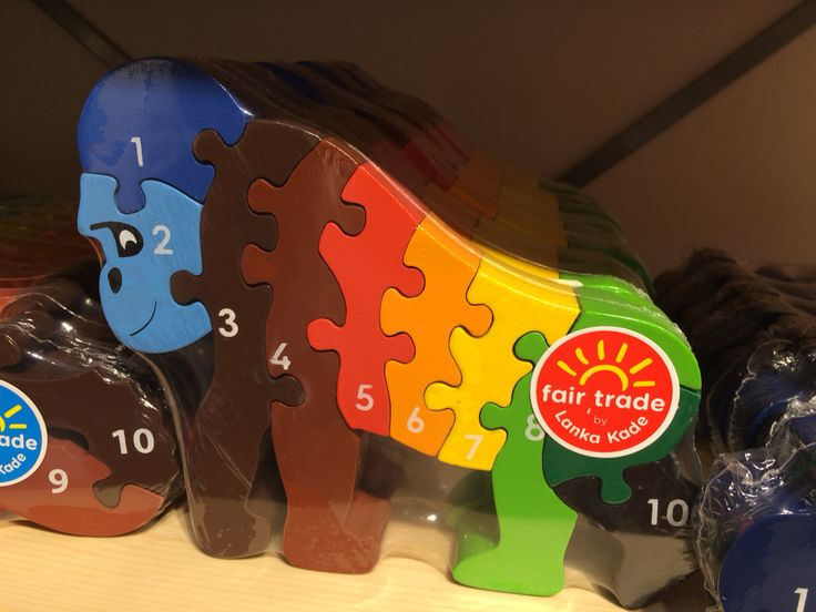 Fair trade wooden toys for children curtesy of Lanka Kade - our fave is the gorilla jigsaw!