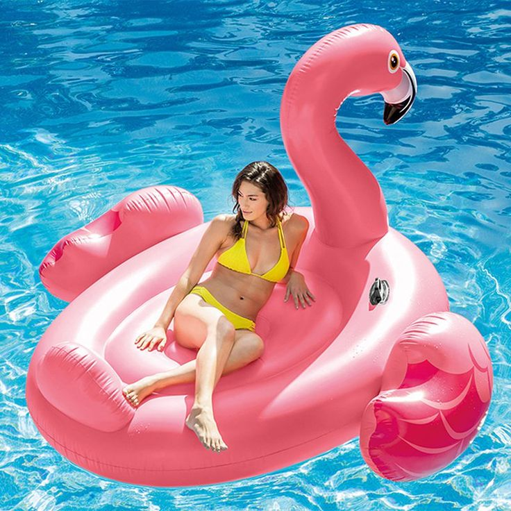 Intex mega flamingo floating island swimming pool float for Swimming pool loungers
