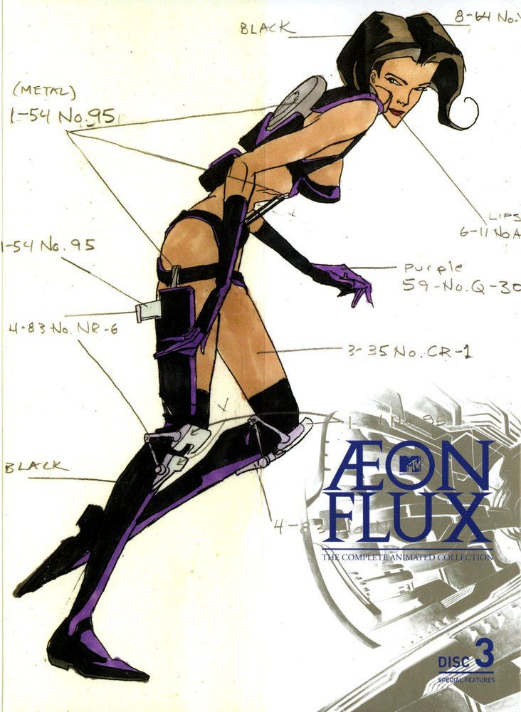 Aeon Flux. One of the freakiest, most surreal cartoons I've ever seen.