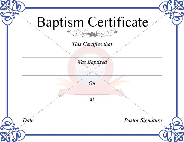 8 Best Baptism Certificate Template Images On Pinterest