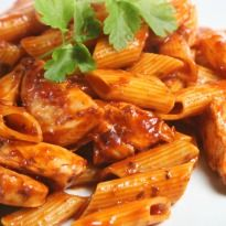 Regatta Chilli Pasta: A delicious #pasta dish with the flavors of tomato, garlic, mushrooms and black pepper. Serve it piping hot topped with cheddar or Parmesan cheese.