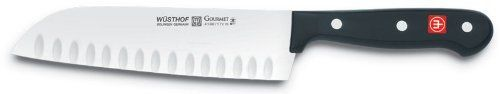 "Wusthof Gourmet 7"" Santoku Knife with Hollow Edge by Wusthof - Trident of America Inc. $74.99. Wusthof Gourmet 7"" Santoku Knife with Hollow Edge"