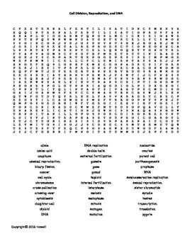 26 best Life Science Vocabulary Word Search for Life Science ...